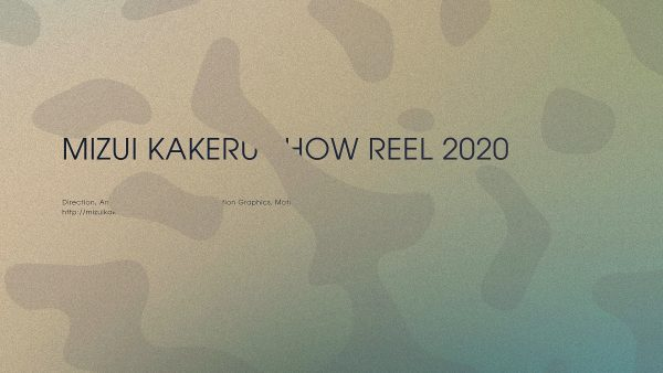 MIZUI KAKERU SHOW REEL 2020